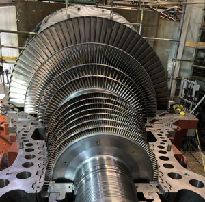 Figure 6. IP/LP Rotor Assembly Installed at the Power Plant